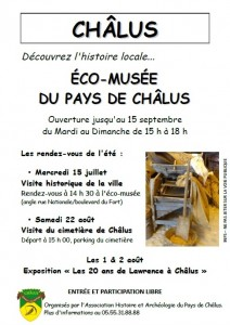 Affiche Eco Musee Chalus